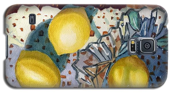 Lemons And Glass Galaxy S5 Case by Lynne Reichhart