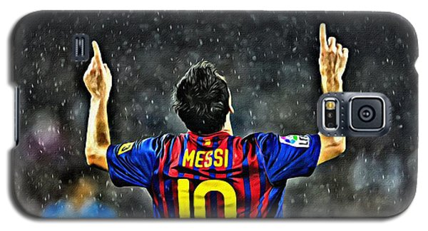 Leo Messi Poster Art Galaxy S5 Case