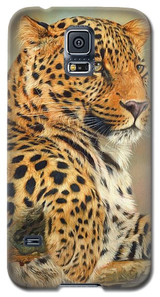 Leopard Galaxy S5 Case by David Stribbling