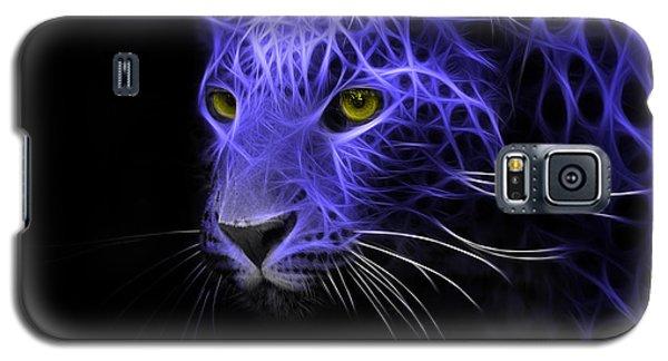 Galaxy S5 Case featuring the digital art Leopard Fractal Blue by Bruno Santoro