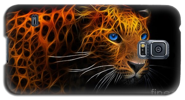 Galaxy S5 Case featuring the digital art Leopard Fraktal by Bruno Santoro