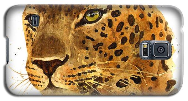 Leopard Gaze Galaxy S5 Case by Alison Fennell