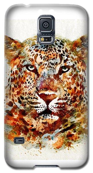 Leopard Head Watercolor Galaxy S5 Case