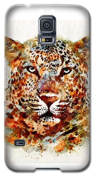 Leopard Head Watercolor Galaxy S5 Case by Marian Voicu