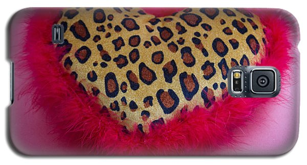 Galaxy S5 Case featuring the photograph Leopard Heart by Patrice Zinck