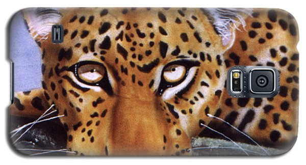 Galaxy S5 Case featuring the painting Leopard In A Tree by Thomas J Herring