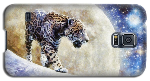 Leopard Moon Galaxy S5 Case by Greg Collins