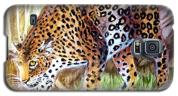Leopard On The Loose Galaxy S5 Case by Carol Grimes