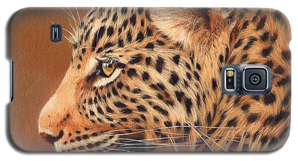 Leopard Portrait Galaxy S5 Case by David Stribbling