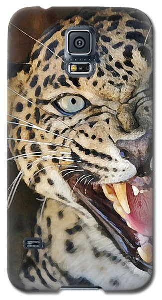 Leopard Snarling Galaxy S5 Case