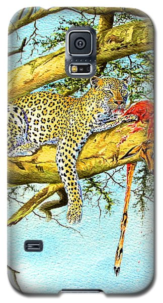 Leopard With A Kill Galaxy S5 Case