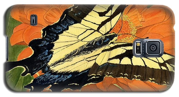Galaxy S5 Case featuring the painting Lepidoptery by Joel Deutsch