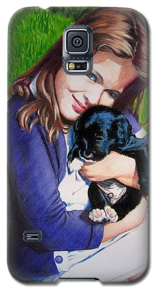 Galaxy S5 Case featuring the mixed media Leslie And Sergeant by Constance Drescher