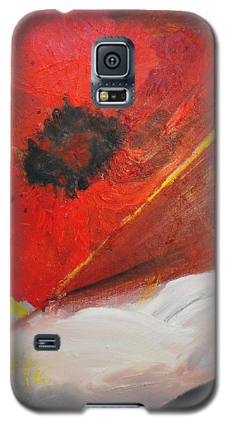 Galaxy S5 Case featuring the painting Ode Of Remembrance by Evelina Popilian