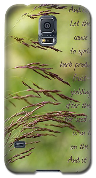 Let The Earth Bring Forth Grass Genesis Galaxy S5 Case