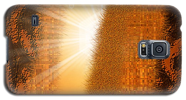 Galaxy S5 Case featuring the digital art Let The Sunshine In - Abstract Art By Giada Rossi by Giada Rossi