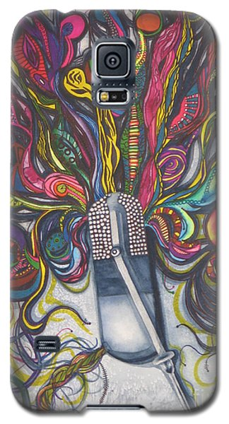Galaxy S5 Case featuring the painting Let Your Music Flow In Harmony by Chrisann Ellis