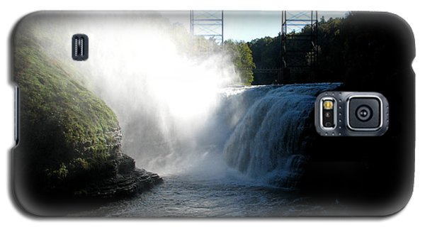 Letchworth State Park Upper Falls And Railroad Trestle Galaxy S5 Case