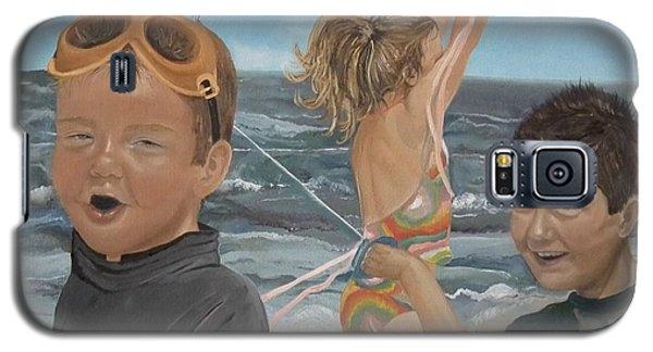 Beach - Children Playing - Kite Galaxy S5 Case