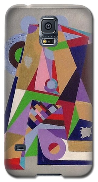 Galaxy S5 Case featuring the painting Letter A by Hang Ho