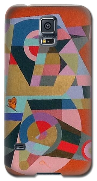 Galaxy S5 Case featuring the painting Letter B by Hang Ho