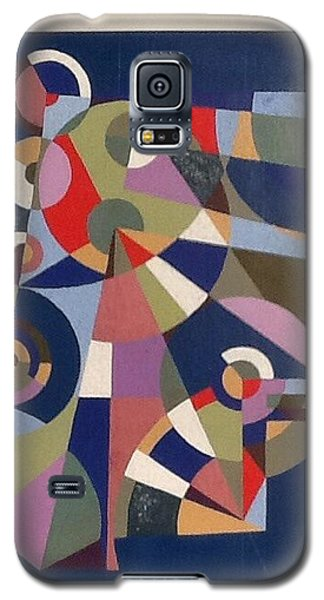 Galaxy S5 Case featuring the painting Letter F by Hang Ho