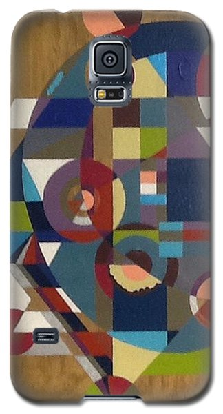 Galaxy S5 Case featuring the painting Letter G by Hang Ho