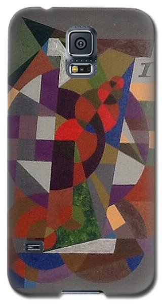 Galaxy S5 Case featuring the painting Letter I by Hang Ho