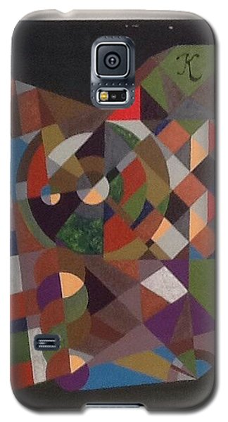 Galaxy S5 Case featuring the painting Letter K by Hang Ho