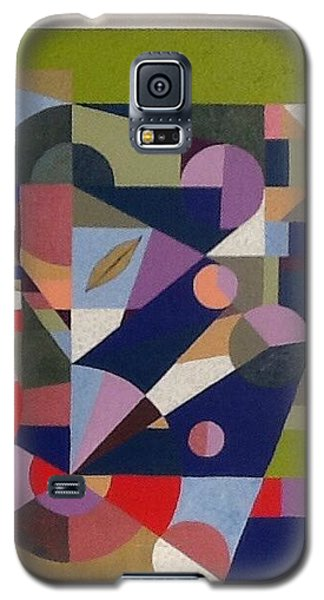 Galaxy S5 Case featuring the painting Letter L by Hang Ho