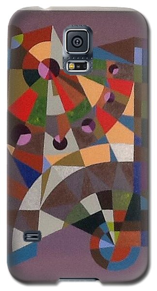 Galaxy S5 Case featuring the painting Letter N by Hang Ho