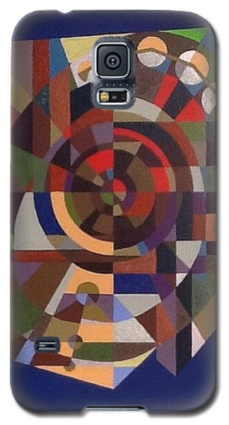 Galaxy S5 Case featuring the painting Letter O by Hang Ho