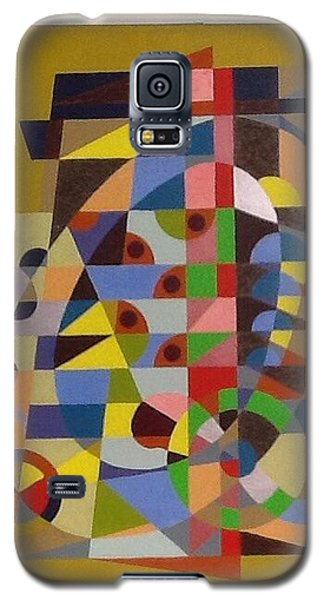 Galaxy S5 Case featuring the painting Letter Q by Hang Ho