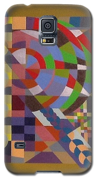 Galaxy S5 Case featuring the painting Letter R by Hang Ho