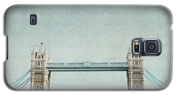 Letters From Tower Bridge - London Galaxy S5 Case by Lisa Parrish