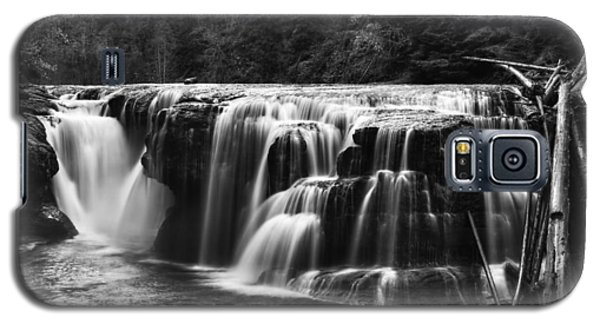 Lewis River Lower Falls Black And White Galaxy S5 Case