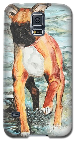 Galaxy S5 Case featuring the painting Leyla by Jeanne Fischer
