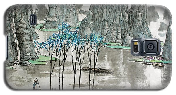 Galaxy S5 Case featuring the photograph Li River In Spring by Yufeng Wang