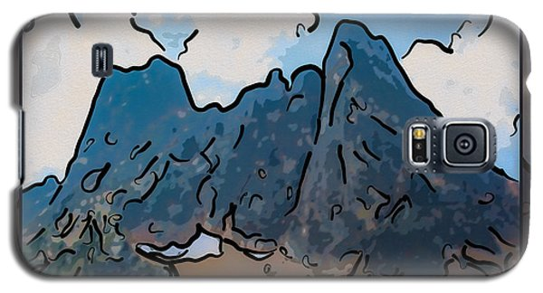 Liberty Bell Mountain Abstract Landscape Painting Galaxy S5 Case