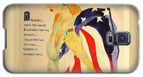 Galaxy S5 Case featuring the painting The Divorce Of Liberty by Rand Swift