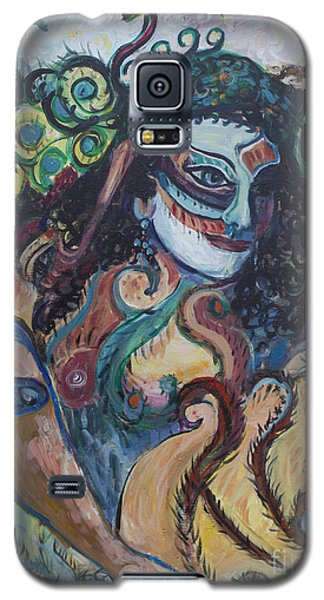 Galaxy S5 Case featuring the painting Librarian Of The Night #1 by Avonelle Kelsey