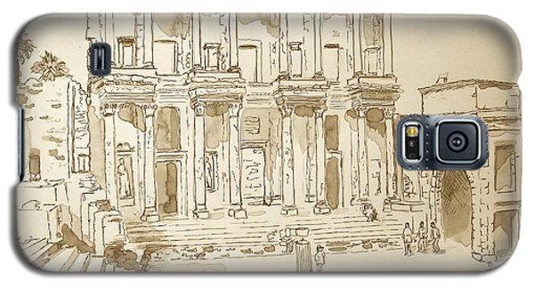 Library At Ephesus II Galaxy S5 Case by Marilyn Zalatan