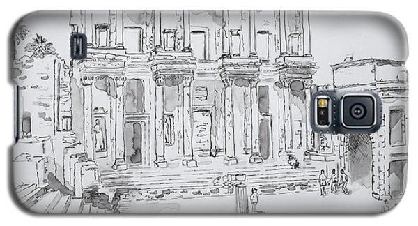 Library At Ephesus Galaxy S5 Case by Marilyn Zalatan