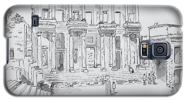 Library At Ephesus Galaxy S5 Case