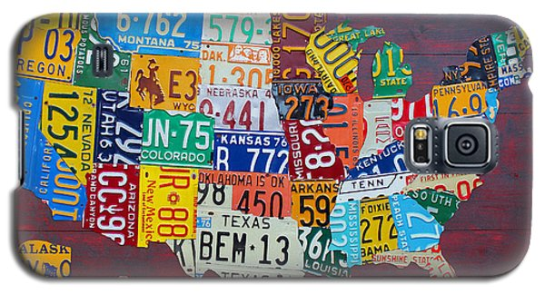 License Plate Map Of The United States Galaxy S5 Case