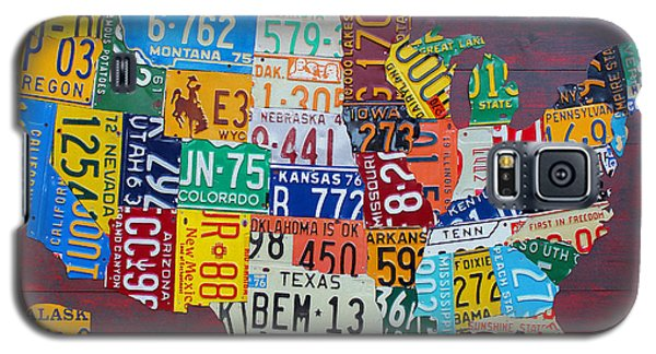 Car Galaxy S5 Case - License Plate Map Of The United States by Design Turnpike