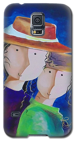 Galaxy S5 Case featuring the painting Life Is Beautiful by Nereida Rodriguez