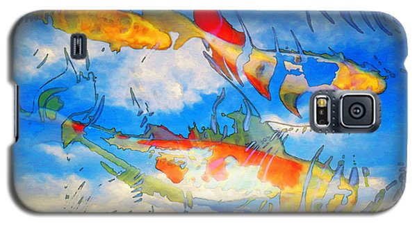Life Is But A Dream - Koi Fish Art Galaxy S5 Case by Sharon Cummings