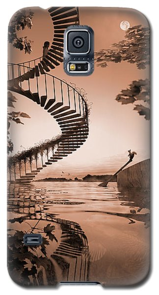 Galaxy S5 Case featuring the digital art Life Without Stairs by Shinji K
