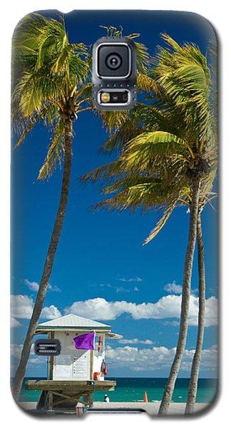 Lifeguard Cabin On Miami Beach Galaxy S5 Case
